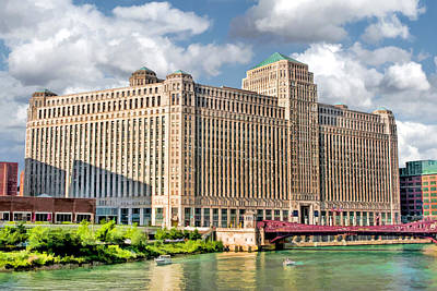 Poster featuring the painting Chicago Merchandise Mart by Christopher Arndt