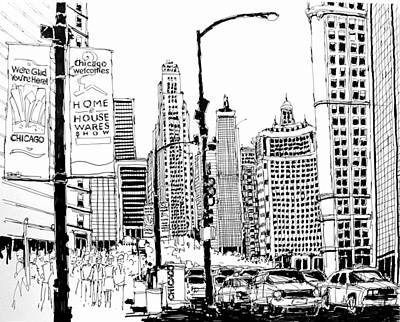 Chicago Michigan Avenue  Poster