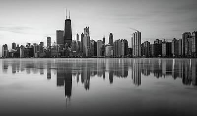 Chicago Monochrome Poster
