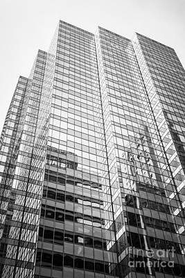 Chicago Office Building  Black And White Photo Poster by Paul Velgos
