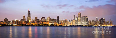 Chicago Panorama Poster by Paul Velgos