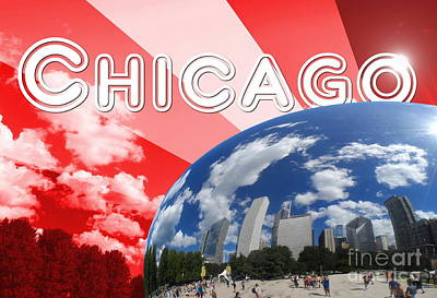 Chicago Reflection Poster by Alan Hogan
