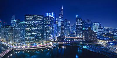 Chicago River Panorama Poster by Steve Gadomski