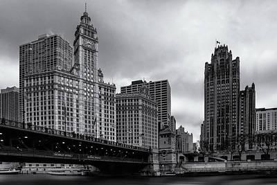 Chicago River Scene Poster by Andrew Soundarajan