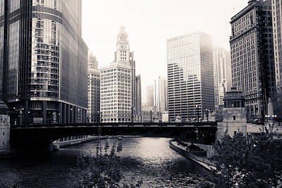 Chicago River Skyline Poster by Paul Velgos
