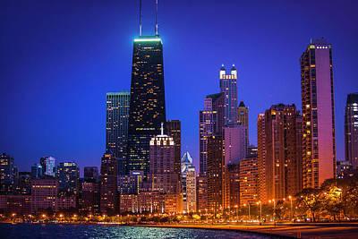 Chicago Shoreline Skyscrapers Poster