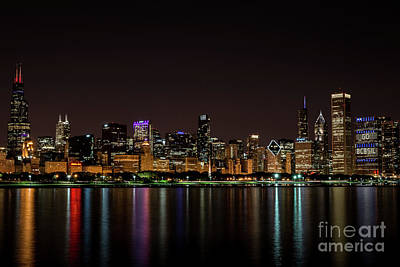 Poster featuring the photograph Chicago Skyline by Andrea Silies