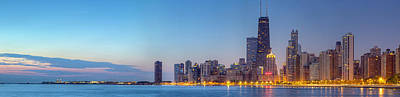 Chicago Skyline At Dawn Poster