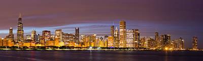 Chicago Skyline From Adler  Poster