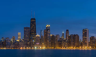 Chicago Skyline From North Ave Beach Poster by Steve Gadomski