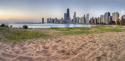 Chicago Skyline From North Beach Poster