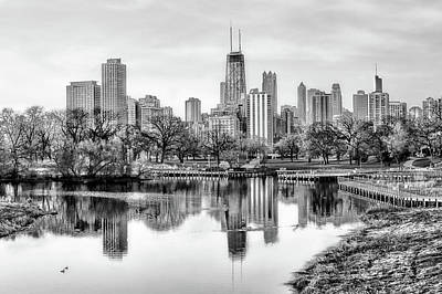 Chicago Skyline - Lincoln Park Poster