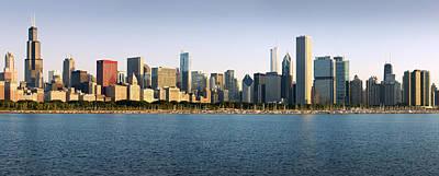 Chicago Skyline Panorama Poster by Donald Schwartz