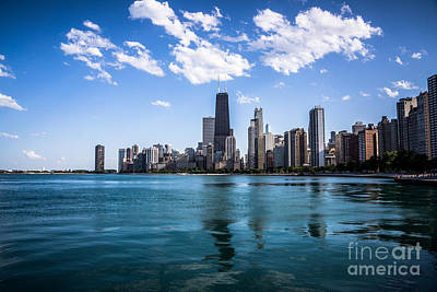 Chicago Skyline Photo With Hancock Building Poster by Paul Velgos