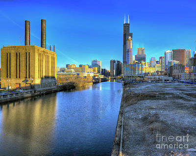 Chicago Skyline - South Loop River Poster by Kevin Oconnell