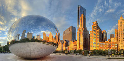 Chicago Skyline Poster by Twenty Two North Photography