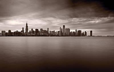Chicago Storm Poster by Steve Gadomski