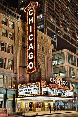Chicago Theater Alight Poster