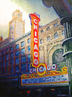 Chicago Theater Poster by Michael Durst