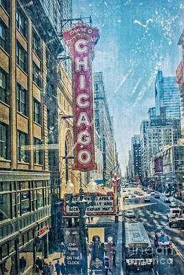 Chicago Through The Window Poster
