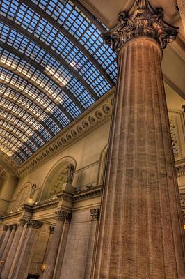 Chicago Union Station Column Poster by Steve Gadomski