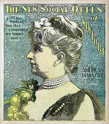 Poster featuring the photograph Chicago Woman Conquers New York's 400  1898 by Daniel Hagerman
