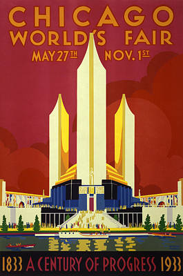 Chicago World's Fair - 1933 Poster by War Is Hell Store