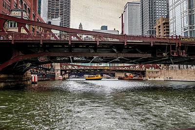 Chicago's Bridges Poster by Debbie Orlando