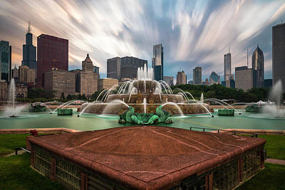 Chicago's Buckingham Fountain Poster by Sean Foster