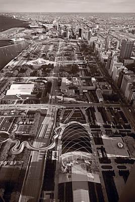 Chicagos Front Yard B W Poster by Steve Gadomski