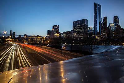 Chicago's Michigan Avenue Skyline At Dusk  Poster by Sven Brogren
