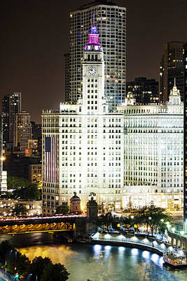 Chicago's Wrigley Building Poster by Andrew Soundarajan