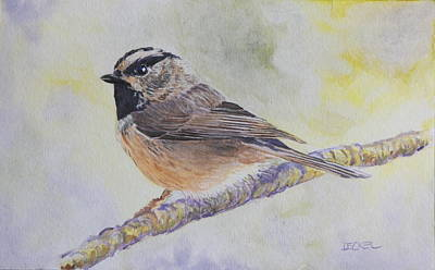 Poster featuring the painting Chickadee 2 by Robert Decker