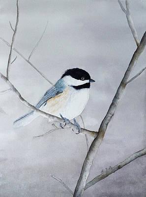 Chickadee II Poster by Laurel Best