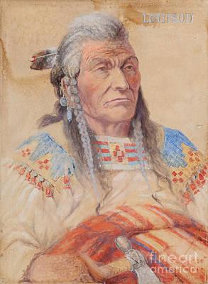 Chief Louison - Flathead Poster by Edgar S Paxson