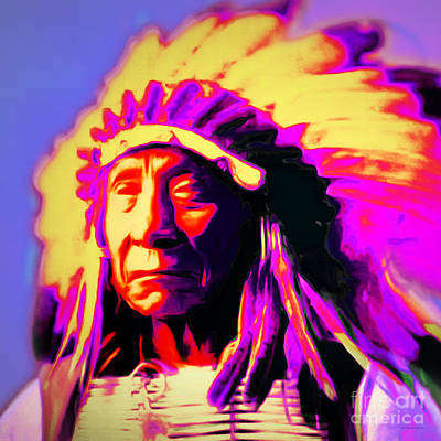 Chief Red Cloud 20151230 Square Poster by Wingsdomain Art and Photography
