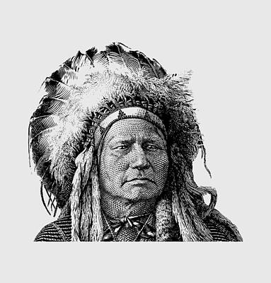 Chief Running Antelope Poster by War Is Hell Store