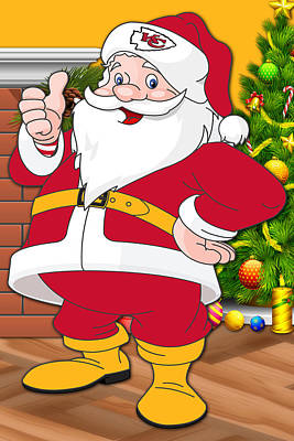 Chiefs Santa Claus Poster by Joe Hamilton