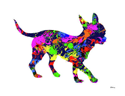 Chihuahua 2 Paint Splatter Poster