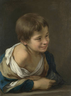Child Looking Out The Window Poster by Bartolome Esteban Murillo