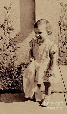 Poster featuring the photograph Child Of  The 1940s by Linda Phelps