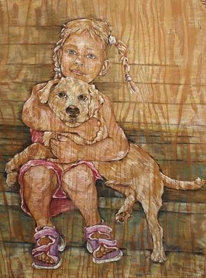 Child With Pup Poster