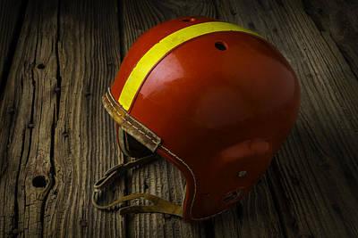 Childhood Football Helmet Poster