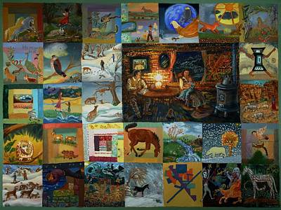 Poster featuring the painting Childhood Quilt by Dawn Senior-Trask