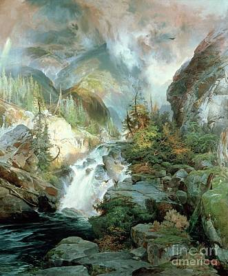 Children Of The Mountain Poster by Thomas Moran