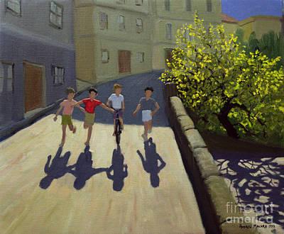 Children Running Poster