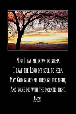 Childrens Bedtime Prayer Poster