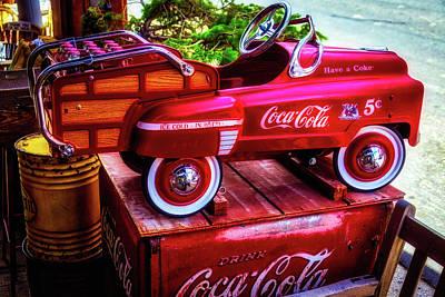 Childrens Coca Cola Car Poster