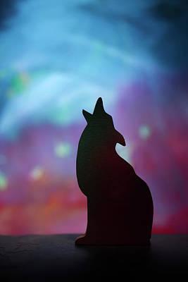 Children's Room Decor - Coyote Silhouette Poster