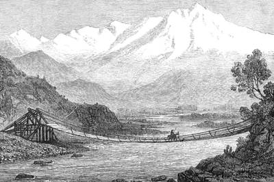 Chile: Rope Bridge, 1870 Poster by Granger